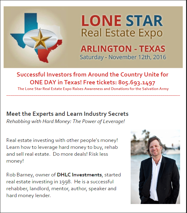 rehabbing with hard money lone star expo